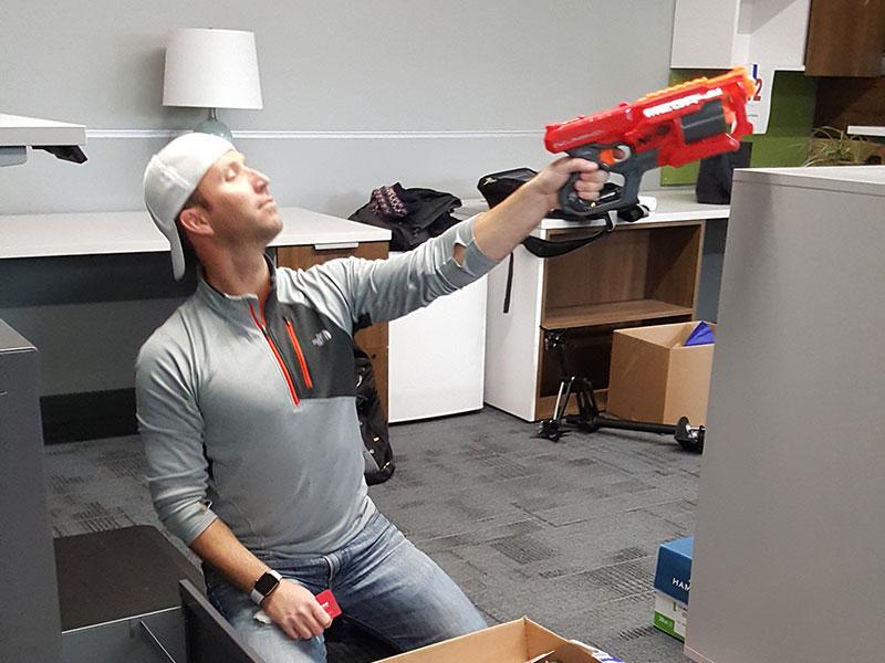 Nerf gun attack!